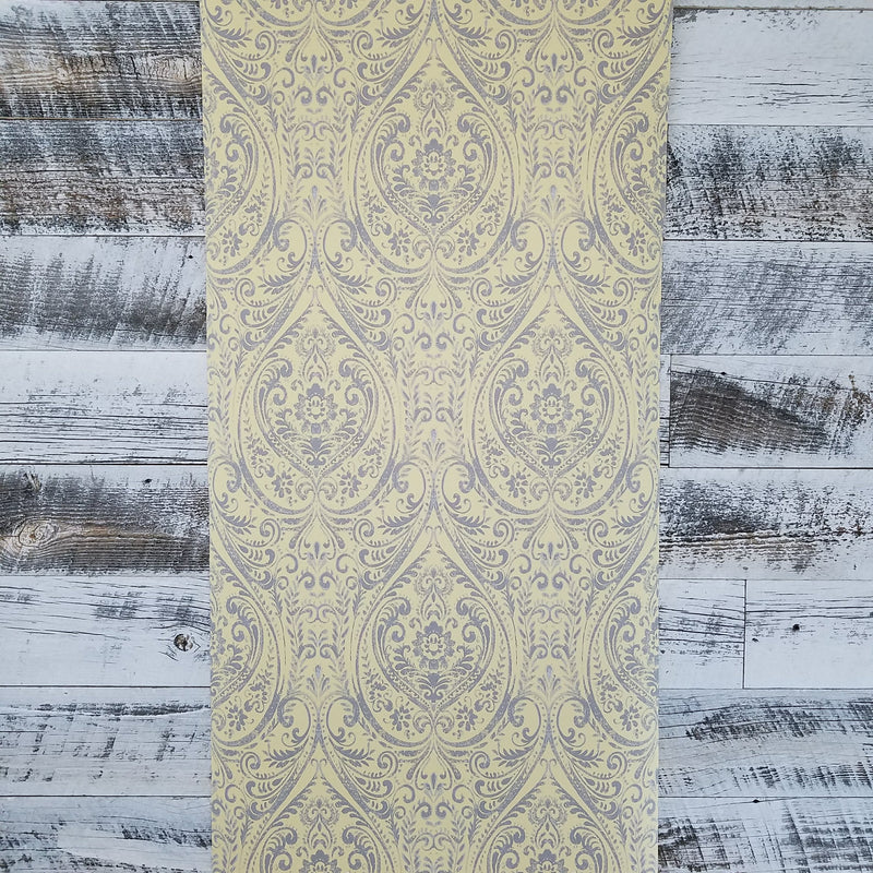 A-Street Prints Modern Vintage Gypsy Yellow Damask Wallpaper