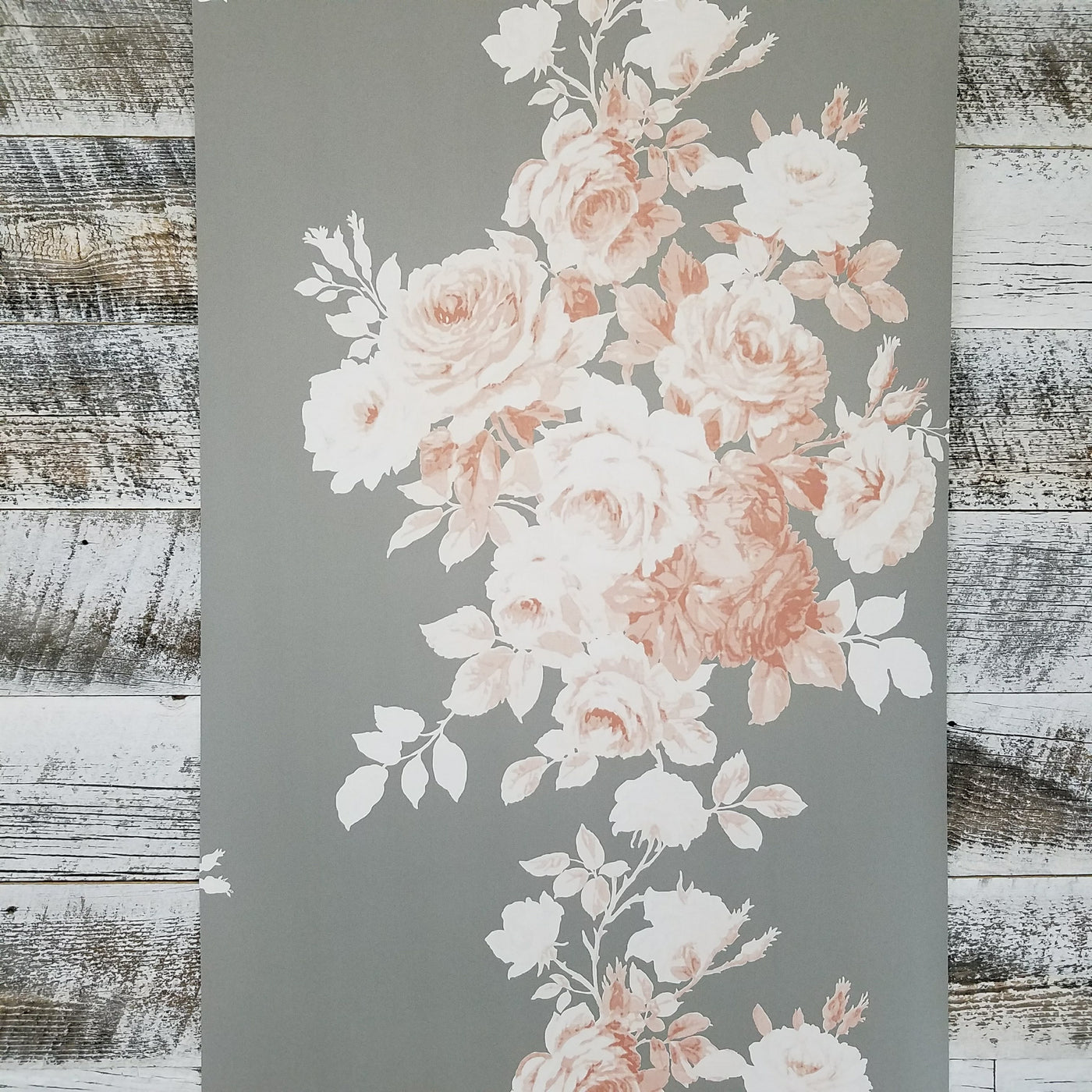 Magnolia Home Tea Rose Gray And Pink Floral Wallpaper Me1530 D