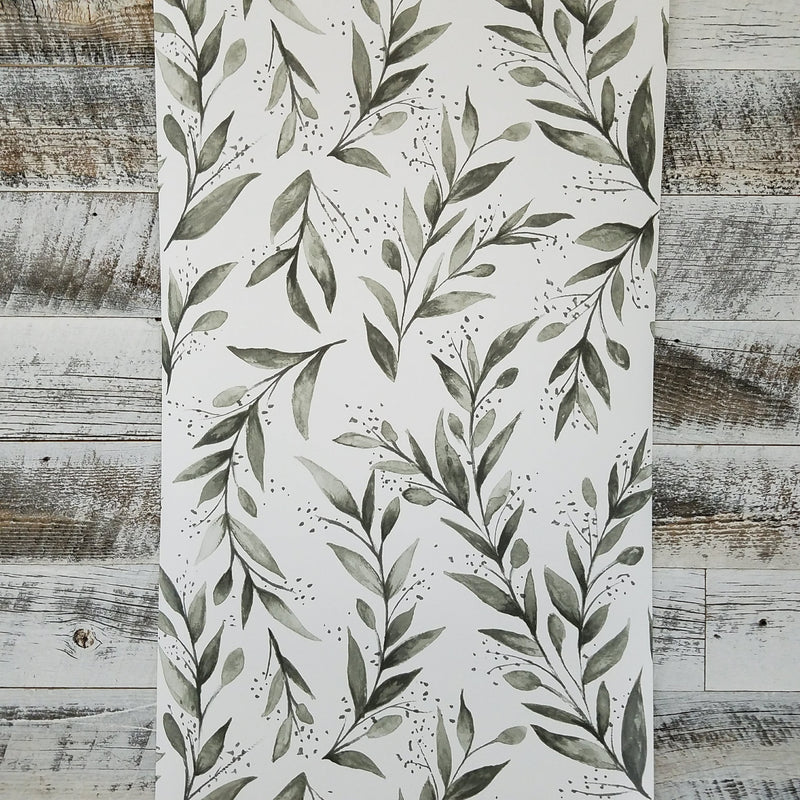 Magnolia Home Gray Olive Branch Botanical Wallpaper