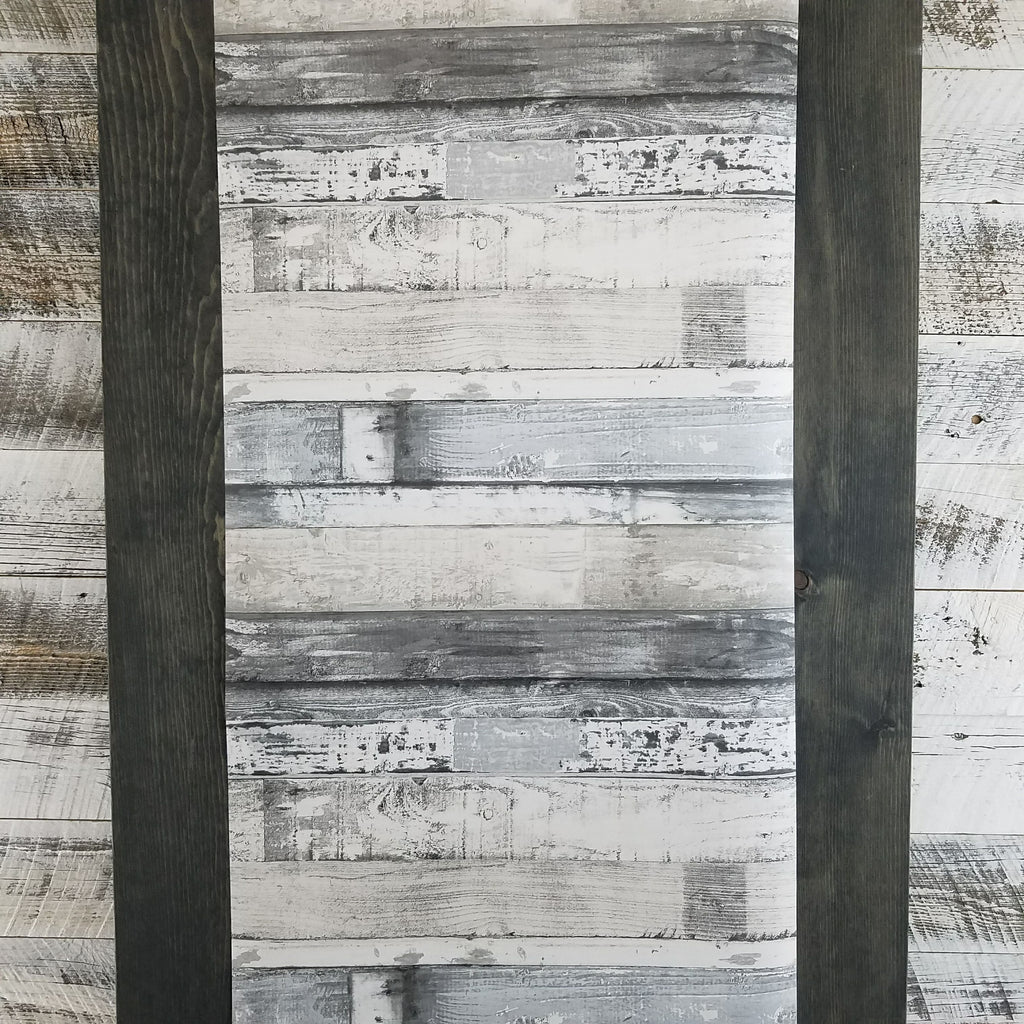 Modern Gray Charcoal Weathered Beachwood Wallpaper