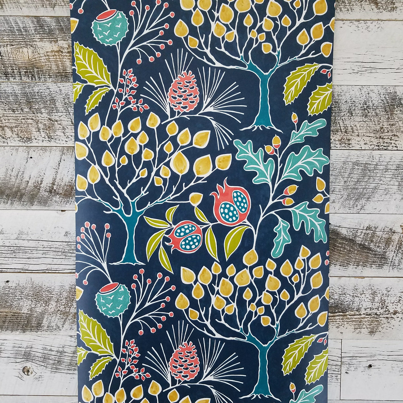 Groovy Garden Navy Peel And Stick Wallpaper D Marie Interiors