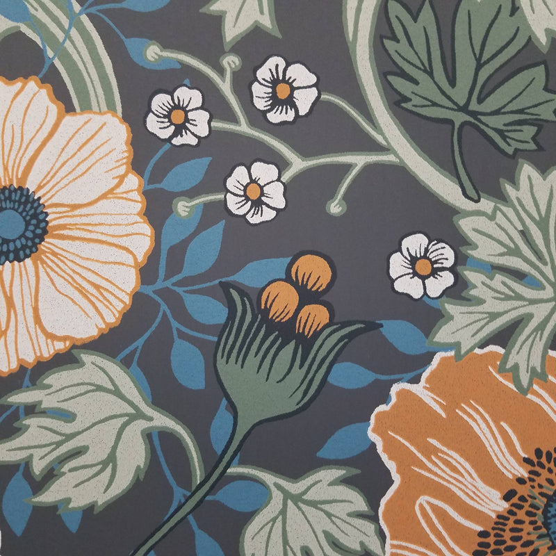 Anemone Multicolor Floral Wallpaper
