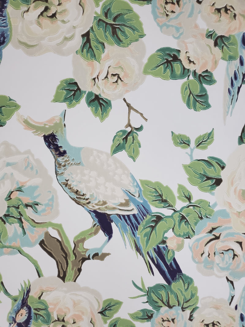 Garden Plume Vintage Bird Wallpaper