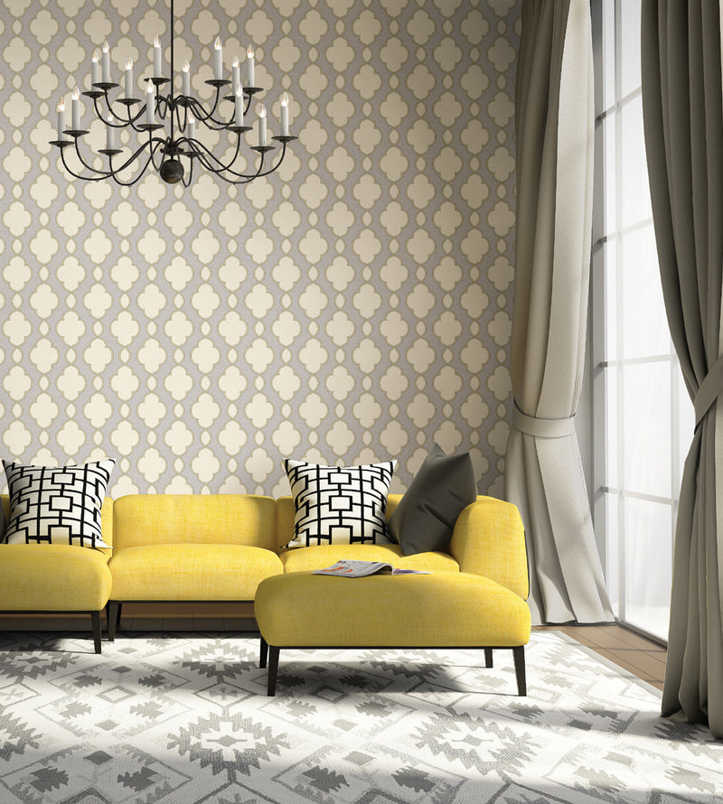 yellow gray geometric wallpaper 2625-21820