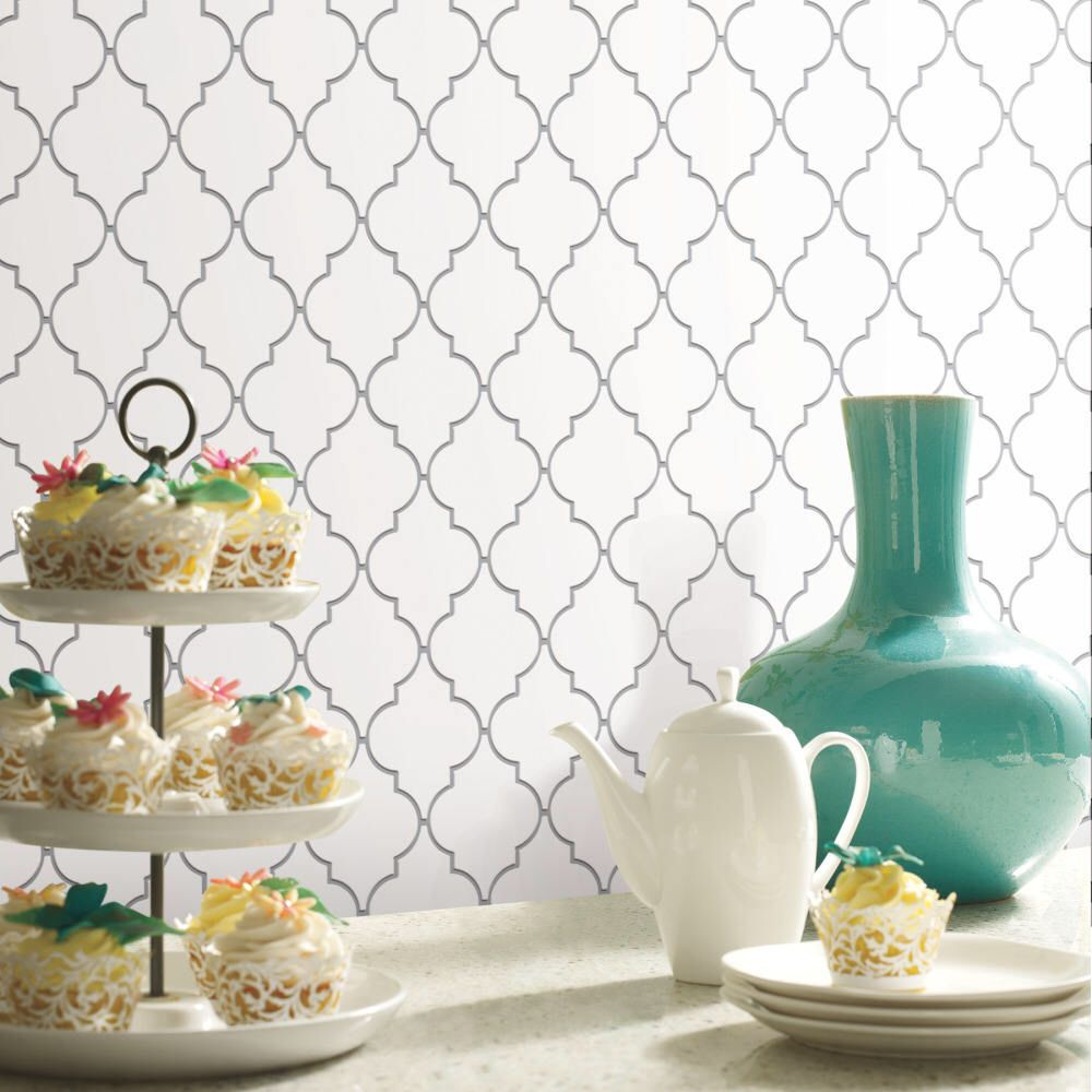 Quatrefoil Farmhouse Peel and Stick Backsplash Tile