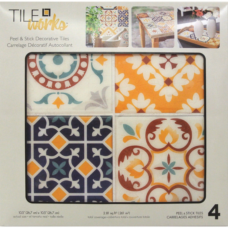 StickTILES Spanish Terracotta Peel and Stick Tile