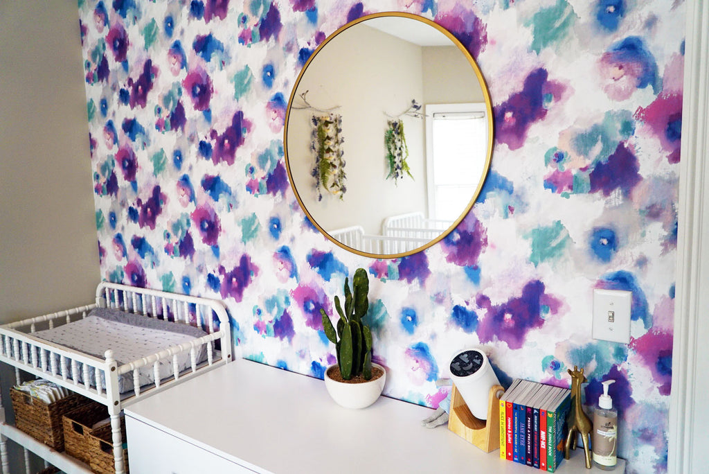 Impressionist Watercolor Floral Wallpaper