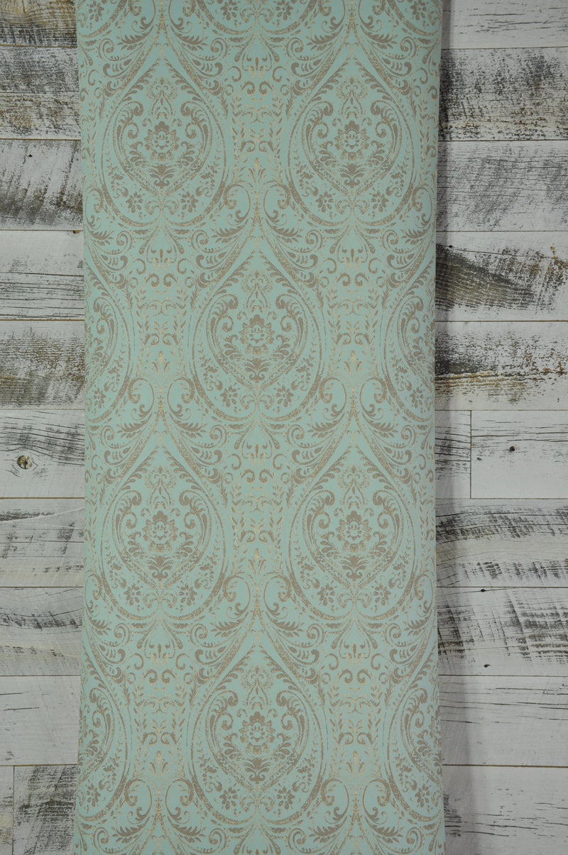 A Street Prints Gypsy Turquoise Damask Wallpaper