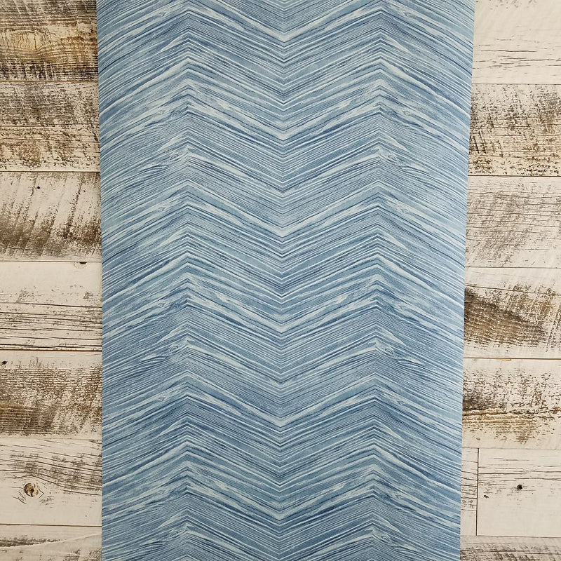 Maya Blue Chevron Wood Wallpaper
