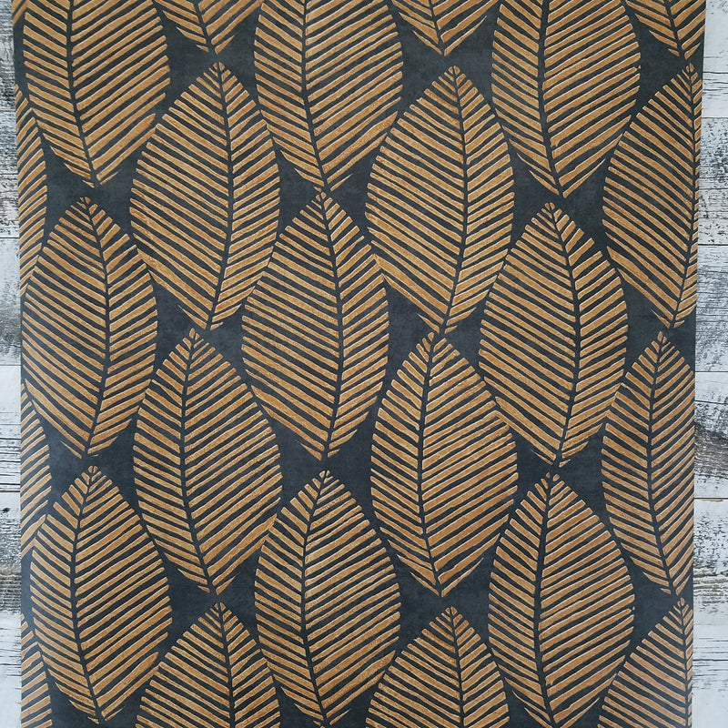 Maya Burnt Orange Tropical Leaf Wallpaper