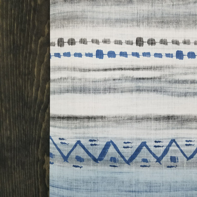 Maya Boho Aztec Mud Cloth Blue Wallpaper