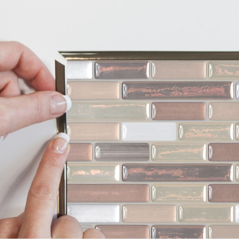 Smart Tiles SmartEdge Ambra Peel and Stick Finishing Edge Backsplash