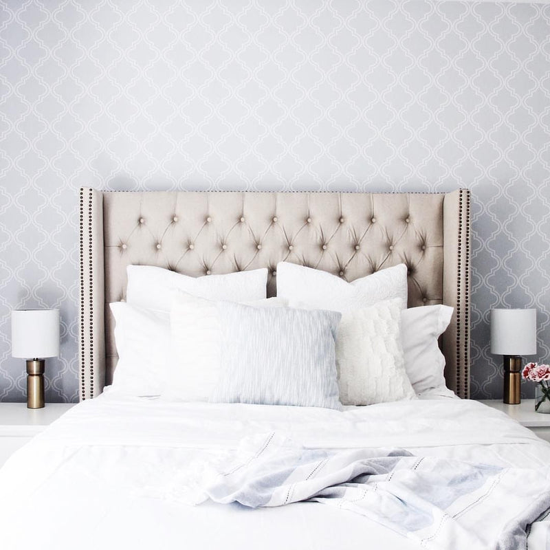 WallPops Gray Quatrefoil NU Peel and Stick Wallpaper