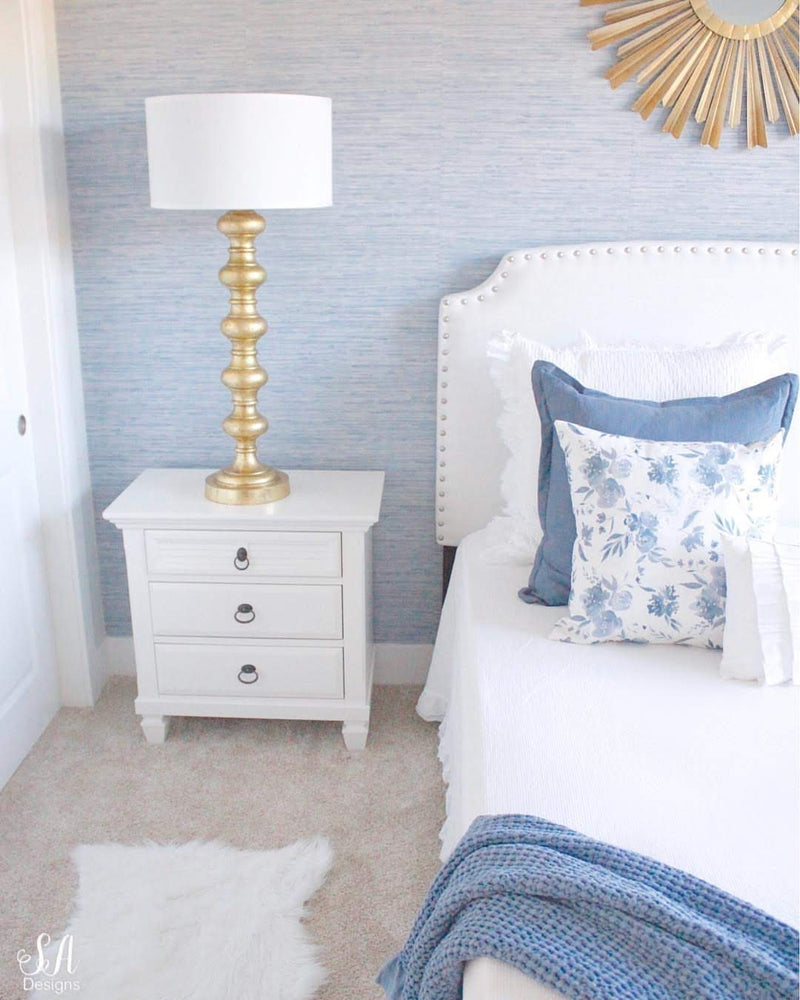 Ocean Blue Faux Grasscloth Wallpaper Pa34213 D Marie