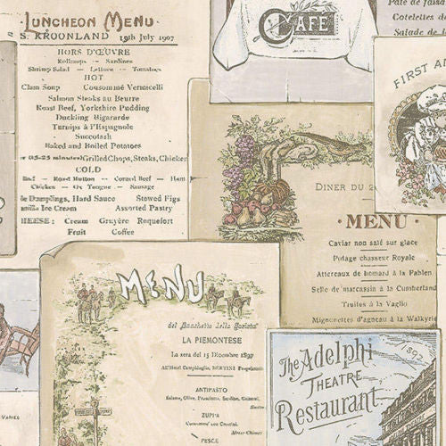 menus kitchen antique wallpaper FK26955
