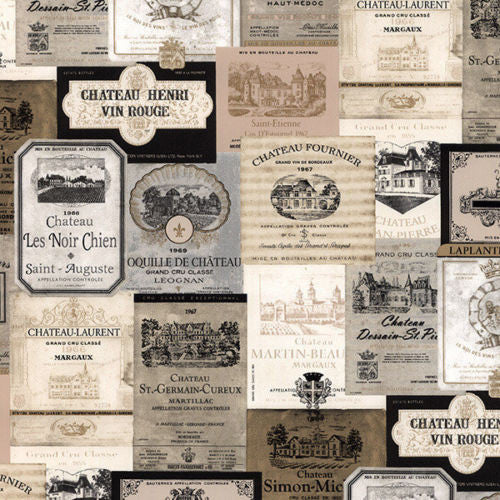 French country kitchen wine labels wallpaper KK26753