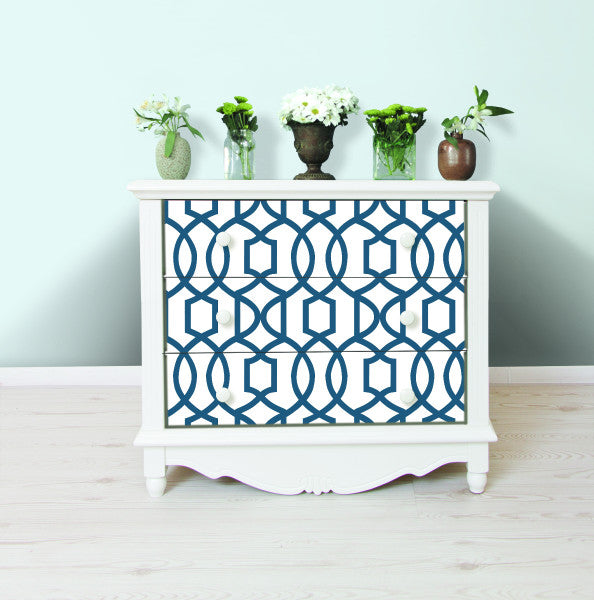 navy blue geometric wallpaper NU1648