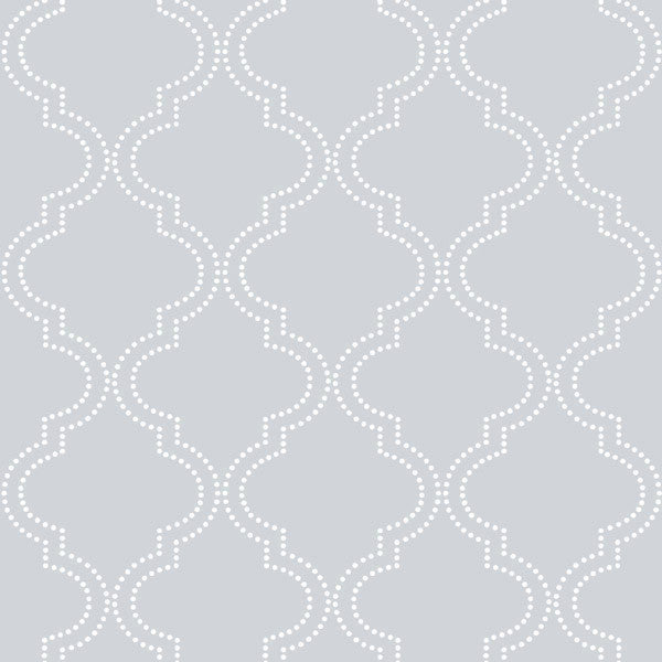 gray geometic quatrefoil temporary wallpaper NU1649