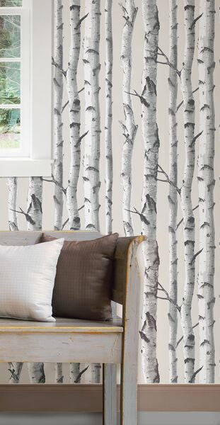 Birch Trees Nu Wallpaper Peel Stick Wallpaper Nu1650 D