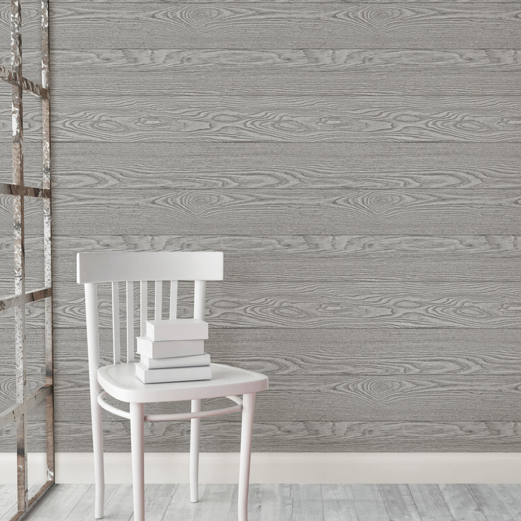 WallPops Peel and Stick Shiplap Rustic Farmhouse Wallpaper