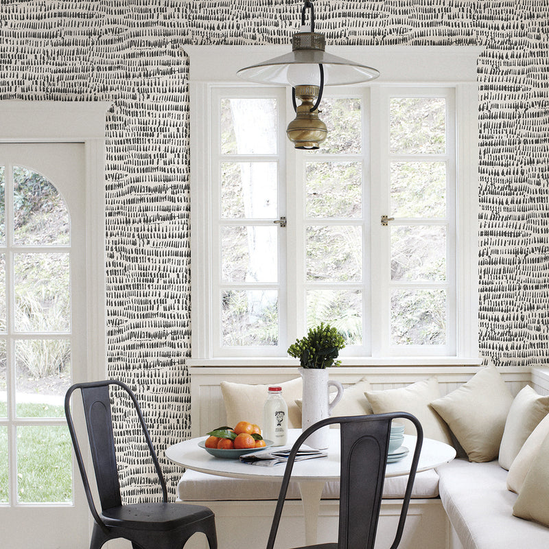 Kylver Charcoal Peel and Stick Wallpaper