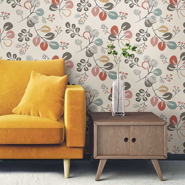Astrilde Peel and Stick Floral Wallpaper
