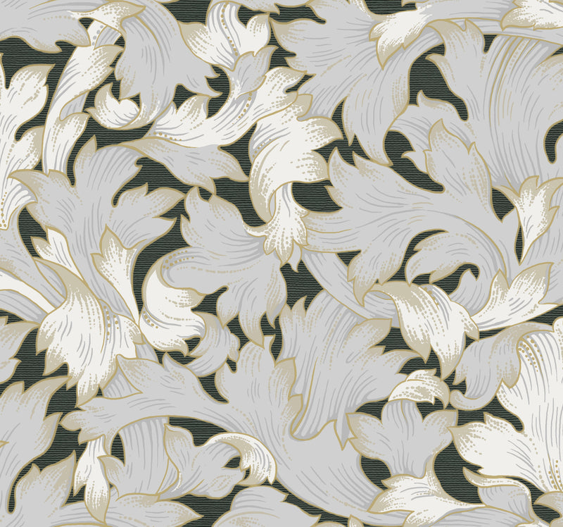 Acanthus Toss Heritage Botanical Wallpaper