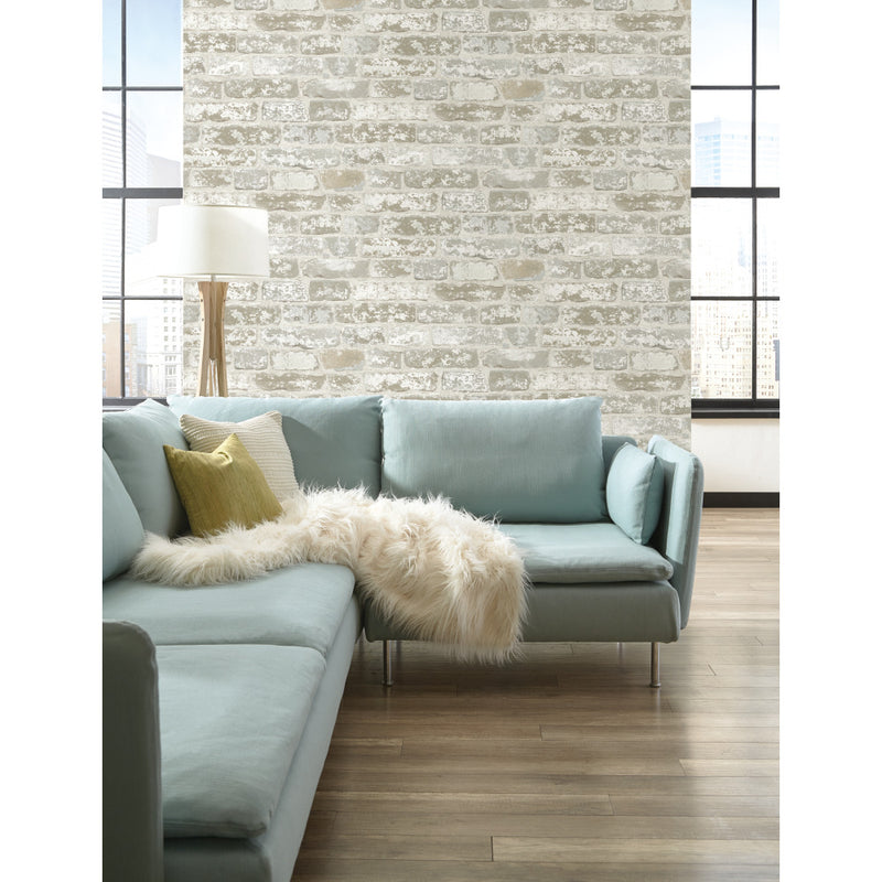 York Up the Wall Urban Chic Brick Stone 3D Wallpaper