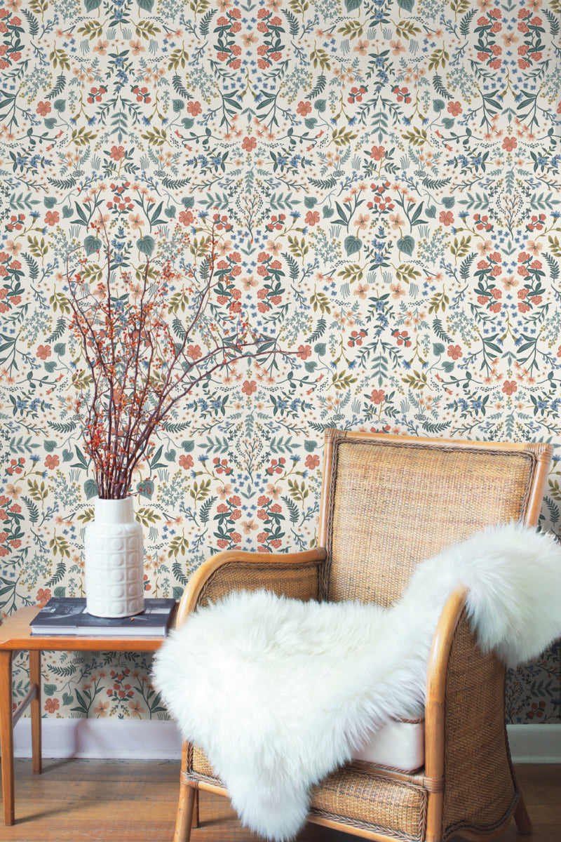 York Rifle Paper Co Wildwood Floral Wallpaper