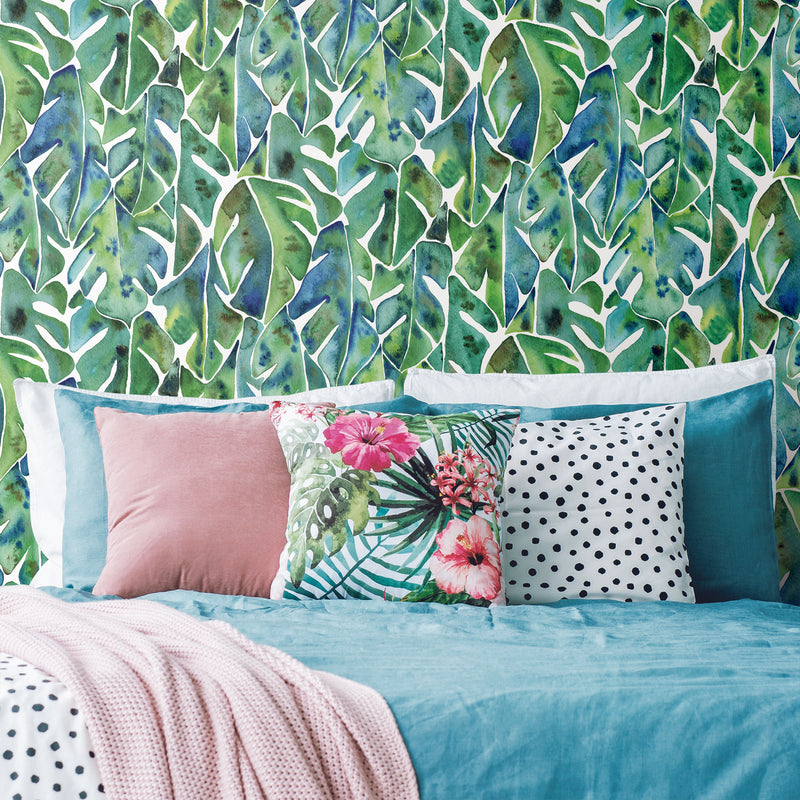 Cat Coquillette Philodendron Peel and Stick Wallpaper