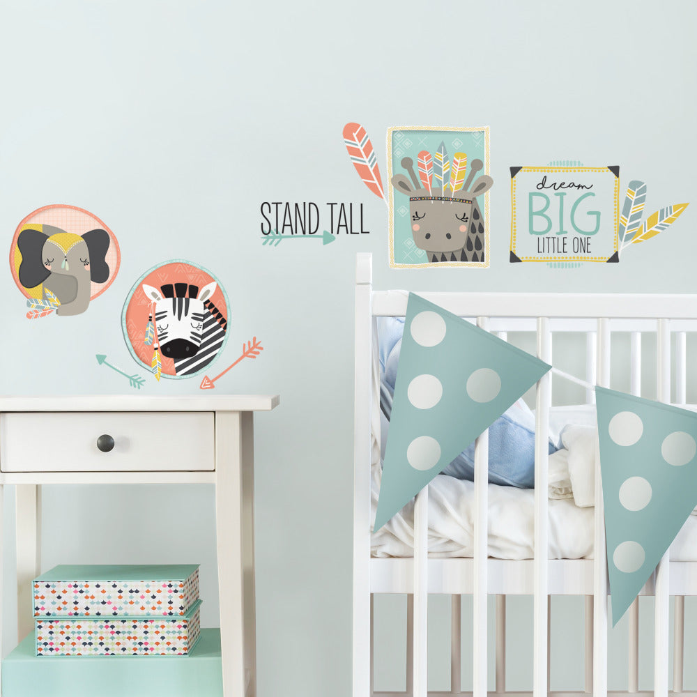 Little Explorer Animal Gallery Wall Decals