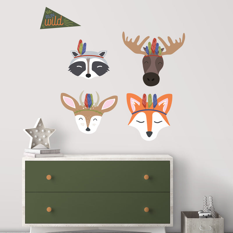 Sleepy Woodland Animals Giant Wall Decals