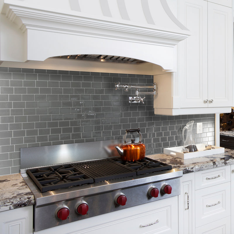 Peel And Stick Backsplash Tiles: Smart Tiles Contemporary White Hexagon Peel And Stick Tile
