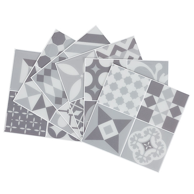 Smart Tiles Vintage Gallo Mosaic Gray Peel and Stick Backsplash