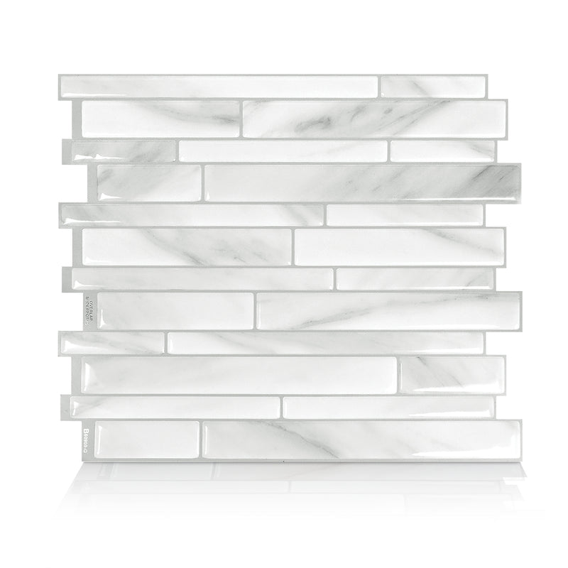 SmartTiles Milano Carrara Marble Peel and Stick Tile