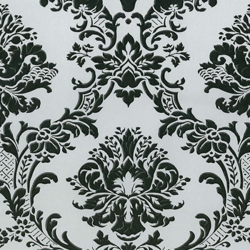 black silver damask wallpaper MD29433