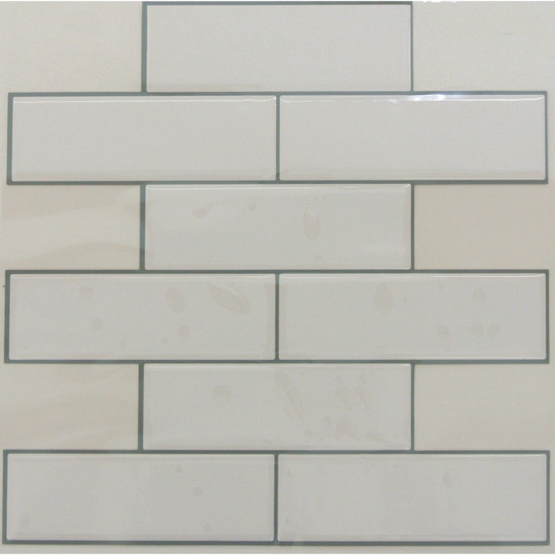 StickTILES White Subway Peel and Stick Tile