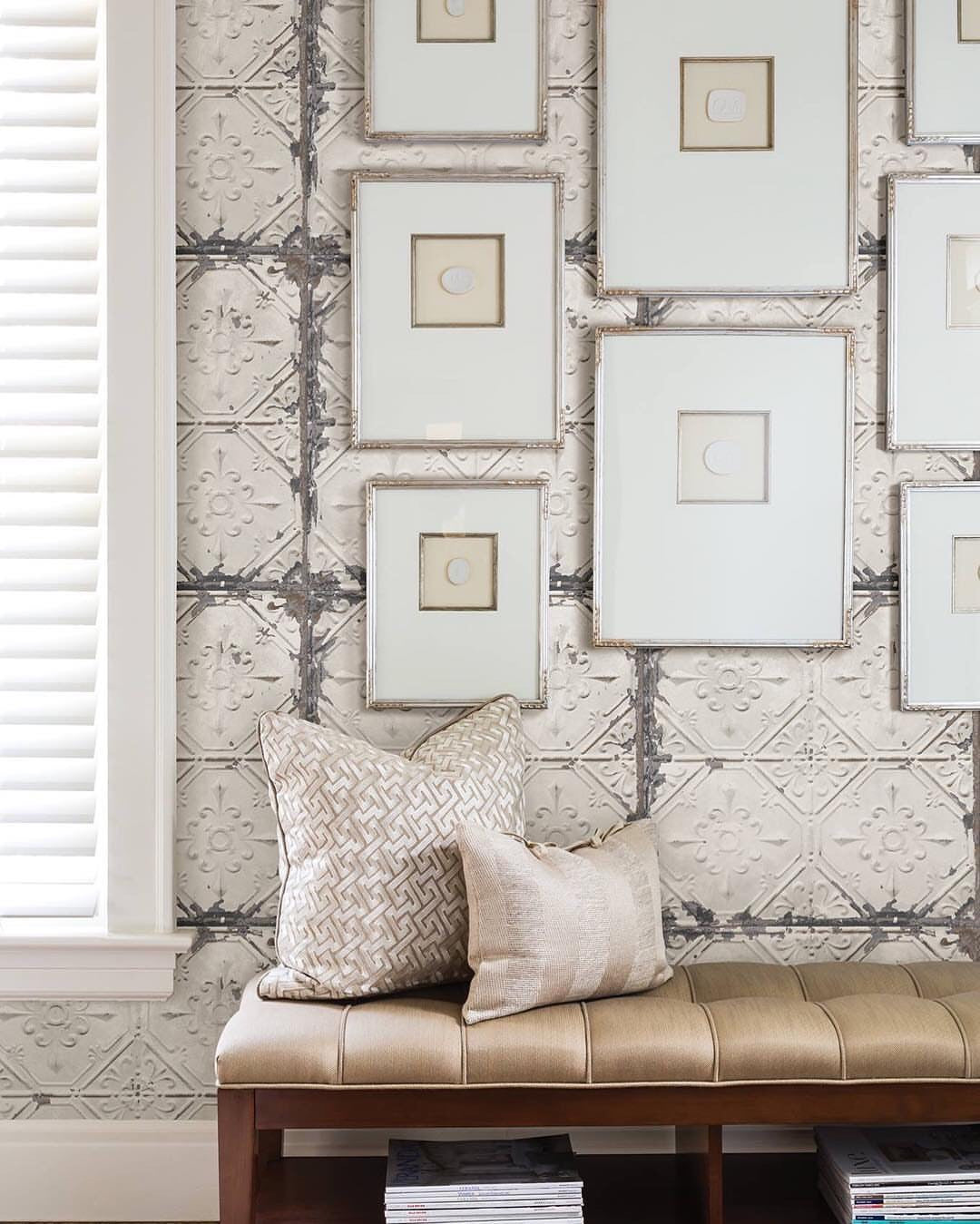 Brewster a street prints reclaimed distressed 3d tin ceiling tiles brewster a street prints reclaimed distressed 3d tin ceiling tiles wallpaper dailygadgetfo Image collections