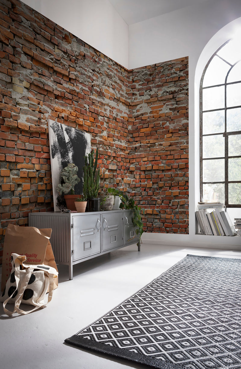 Komar Industrial Red Brick Bricklane Wall Mural Decal