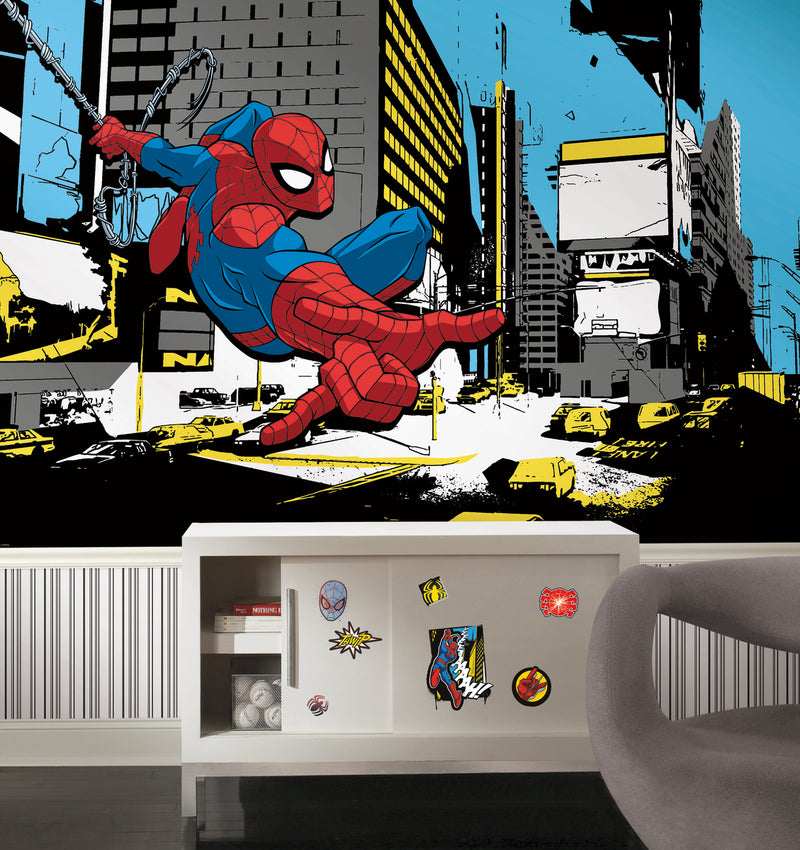 Ultimate Spider-Man Comic Peel and Stick Wall Decals