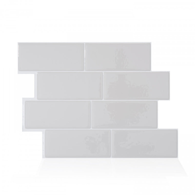 Smart Tiles Metro Gray Subway Peel and Stick Tile