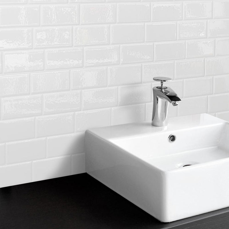 SmartTiles Metro White Subway Peel and Stick Tile