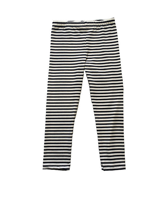 Claire Navy and White Stripe legging