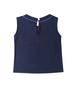 Leah Sleeveless Jersey Top w/ Contrast Stitching