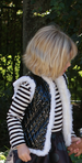 Luna Faux Quilted Black Patent Leather and White Fur Vest