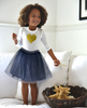 Regan Reversible Denim and Tulle Tutu Skirt