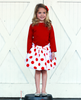 Sale Beatrice White with Red Dot Bubble Skirt
