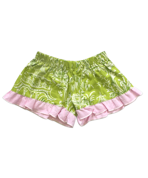 Bella Dark Green Toile Boxer Short