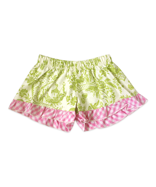 Bella Green Butterfly Toile Boxer Short