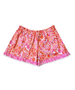 Bella Orange and Pink Paisley Boxer Short w/ Bright Pink Ruffle
